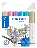 Metallic Colours Pack of Medium Pilot Pintor Paint Markers